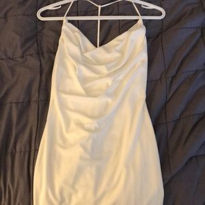 Forever 21 white cowl neck mini dress, size small